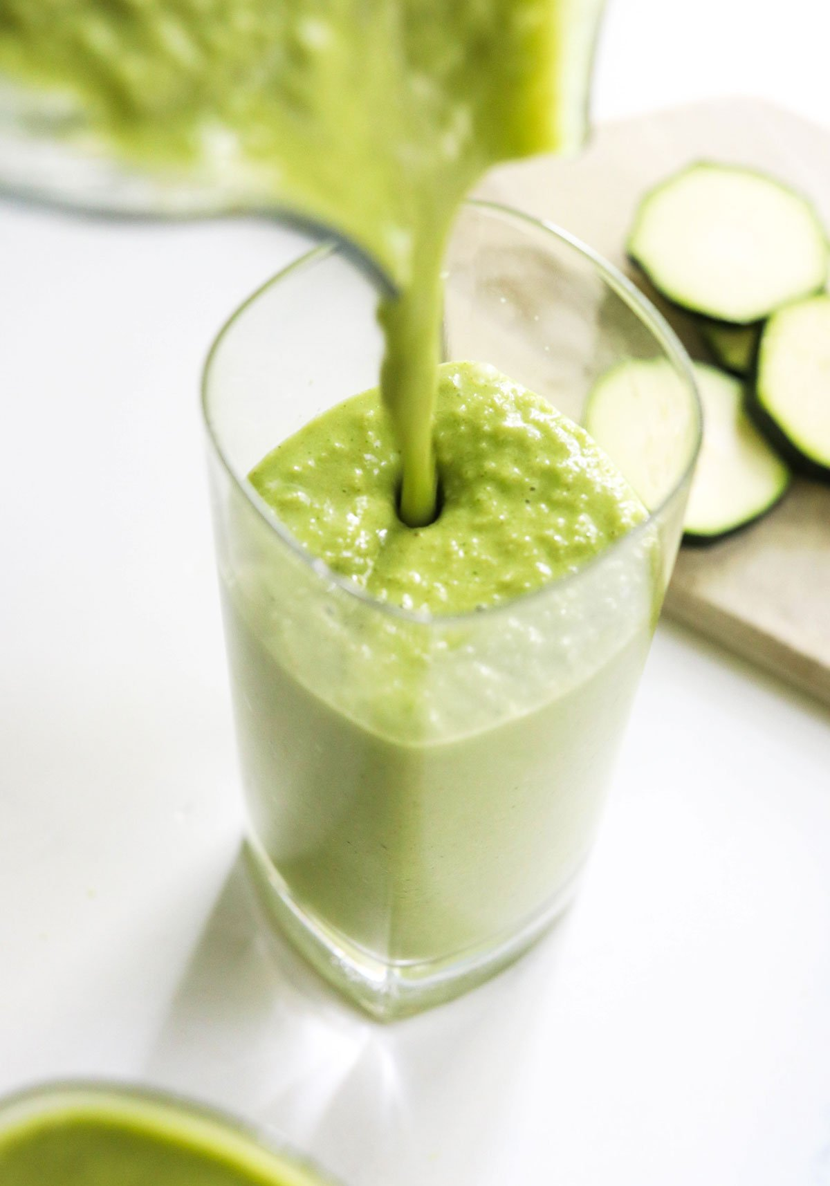 zucchini smoothie with spinach added