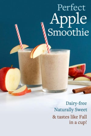 apple smoothie pin for pinterest