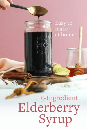 elderberry syrup pin for pinterest