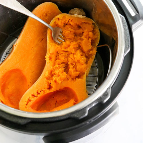 cooked butternut squash in Instant Pot
