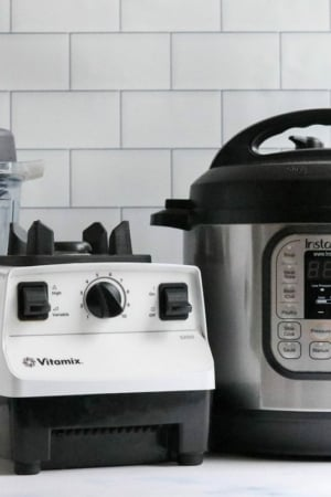 instant pot and vitamix on counter
