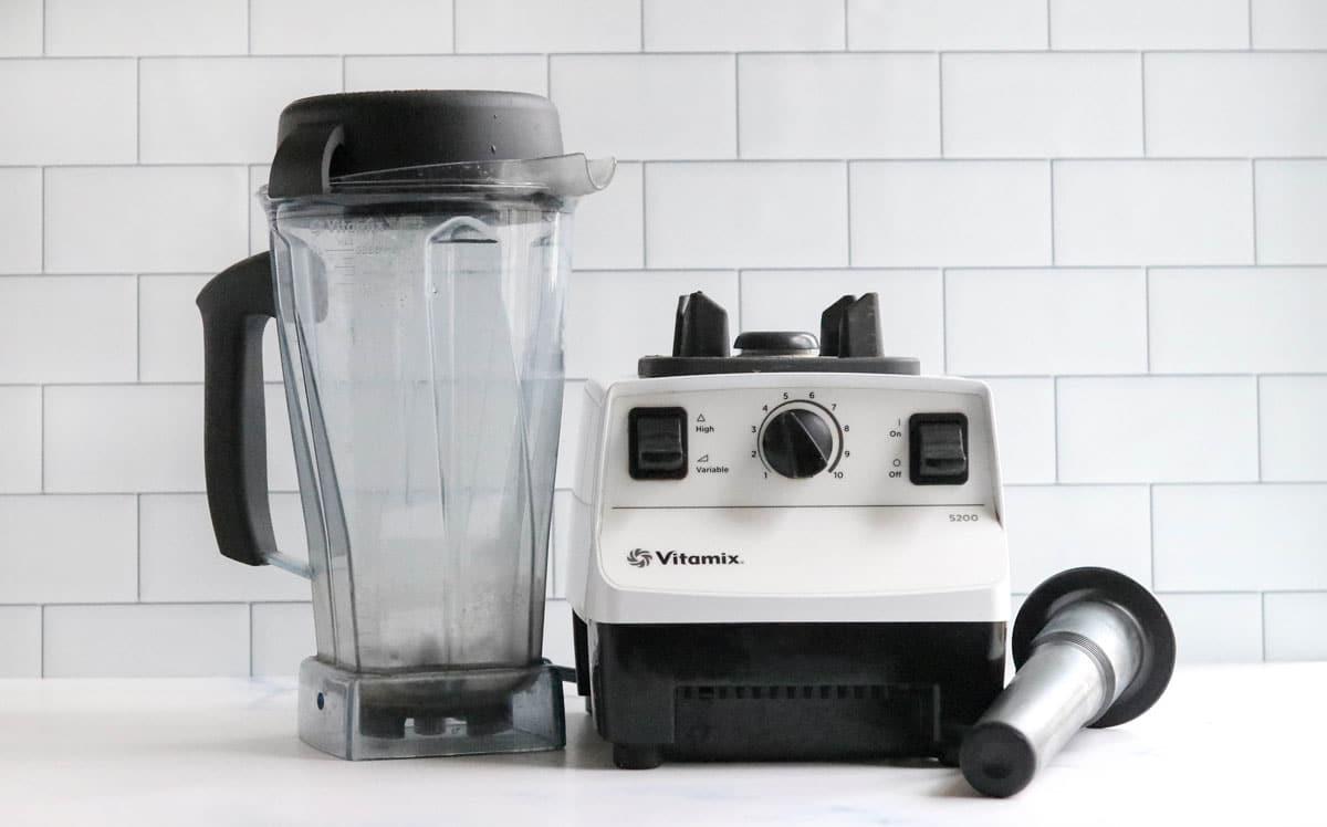 vitamix on counter
