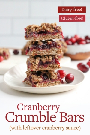 cranberry bars pin for pinterest