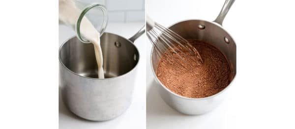 hot chocolate ingredients in pot
