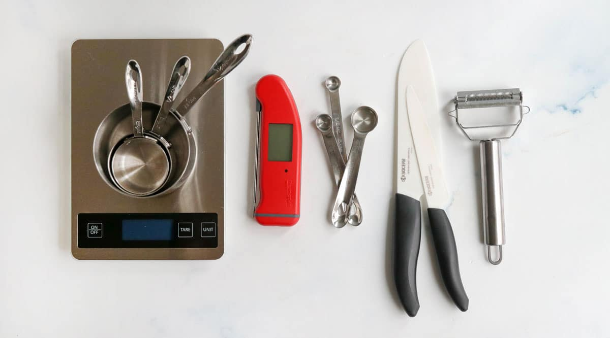 kitchen gadgets on counter