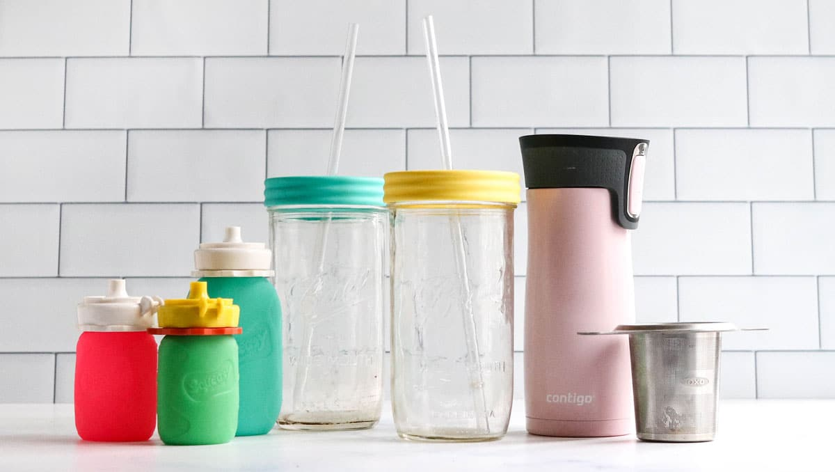drinking cups on counter