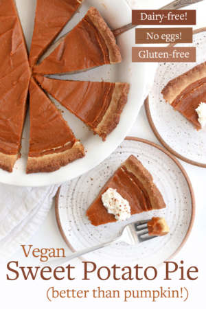 vegan sweet potato pie pin