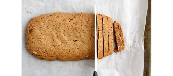 cooled biscotti sliced into pieces