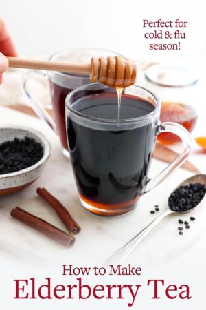 elderberry tea pin for pinterest