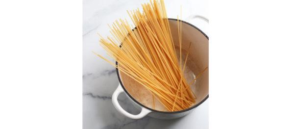 noodles in pot