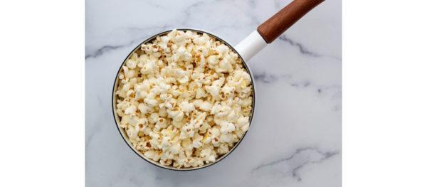 popcorn filling the pot