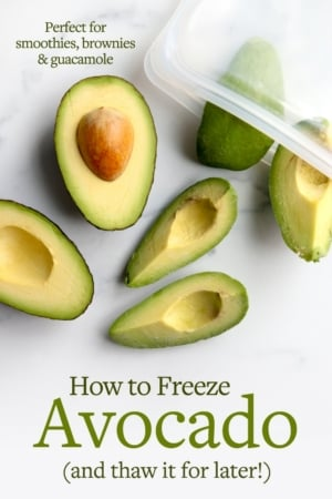 how to freeze avocado pin