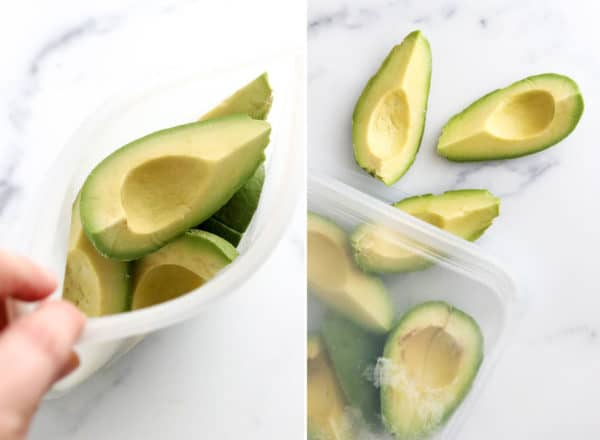 frozen avocado in silicone bag