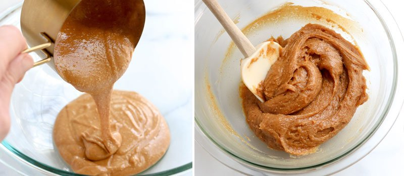 peanut butter cookie ingredients mixed together
