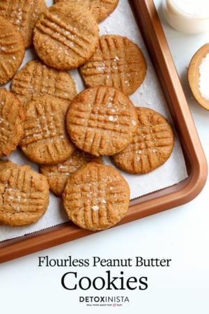 flourless pb cookies pin