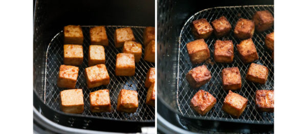 tofu cooked in the air fryer
