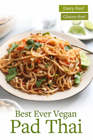 vegan pad thai pin for pinterest