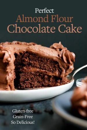 chocolate almond flour cake pin