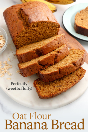 oat flour banana bread pin