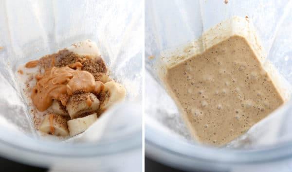 oatmeal smoothie blended together