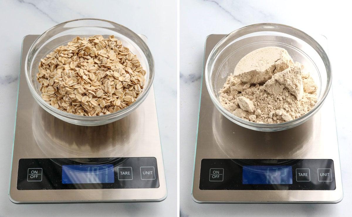 oats in food scale
