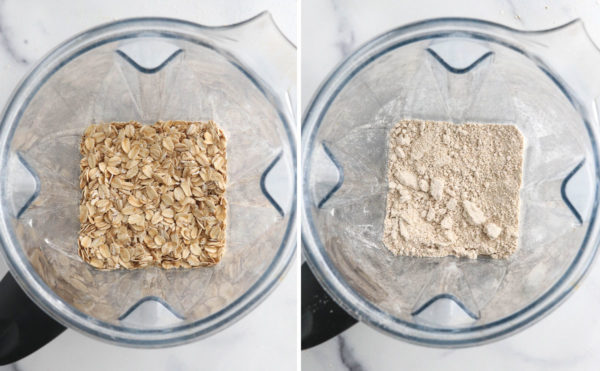 rolled oats ground in blender