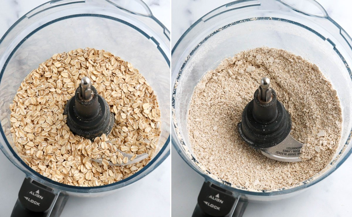 rolled oats ground in food processor