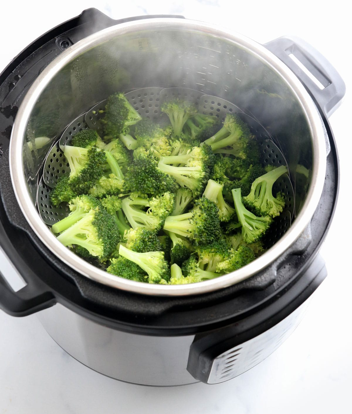 steamed broccoli in the Instant Pot