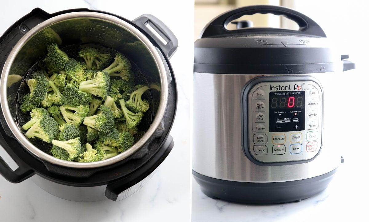 raw broccoli in Instant Pot
