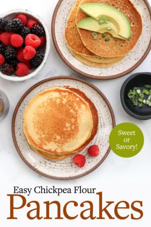 chickpea pancakes pin