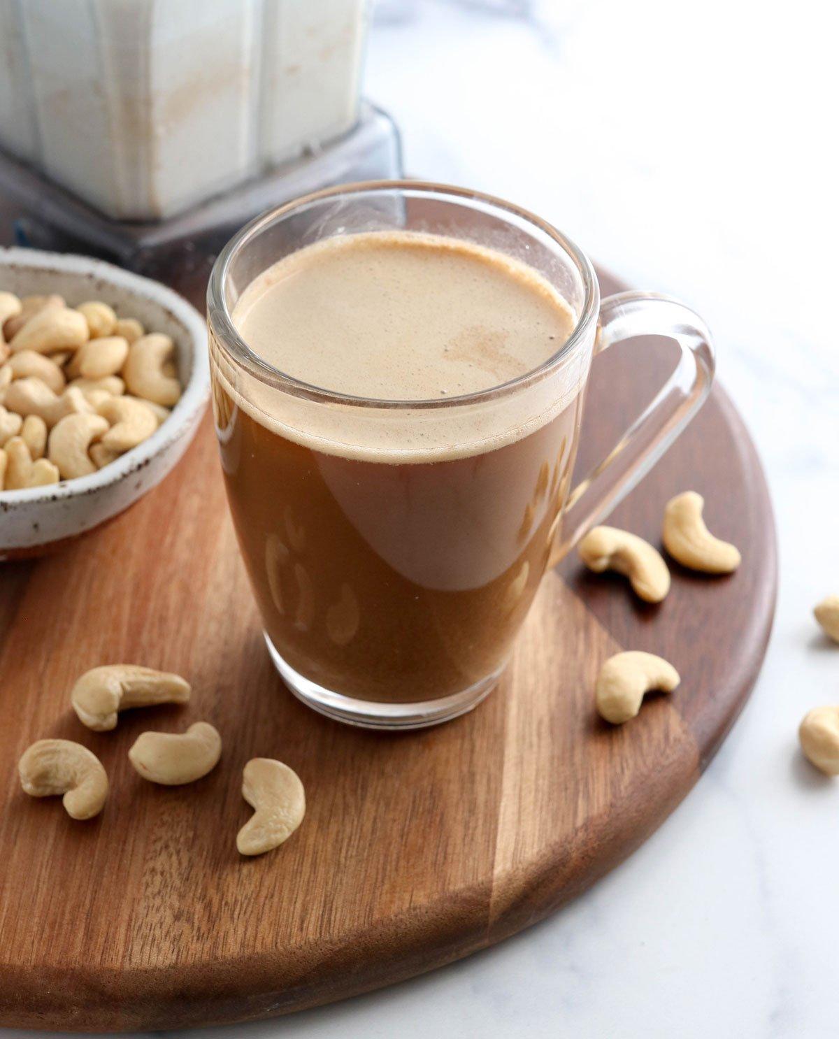 coffee with cashew milk