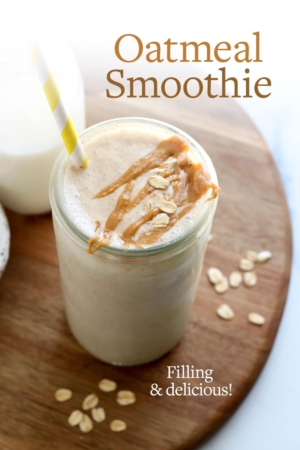 oatmeal smoothie pin
