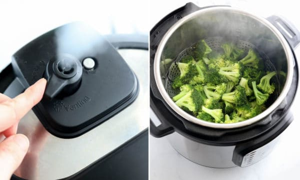 steam released from instant pot