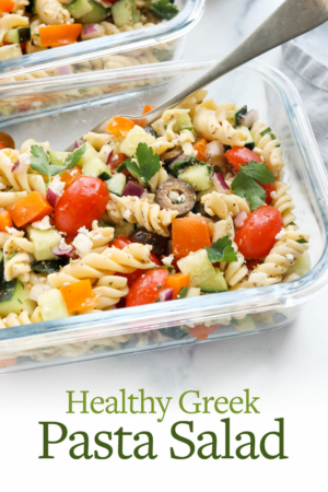 greek pasta salad pin