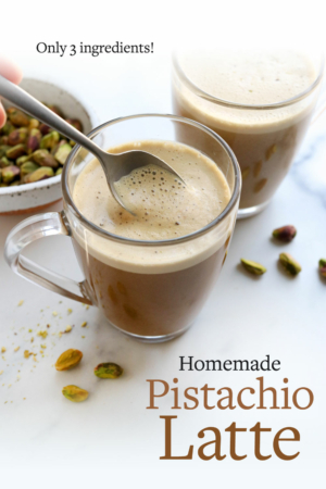 pistachio latte pin