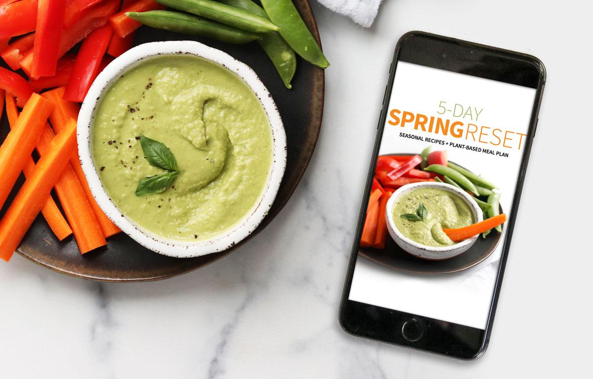 spring reset PDF displayed on mobile phone