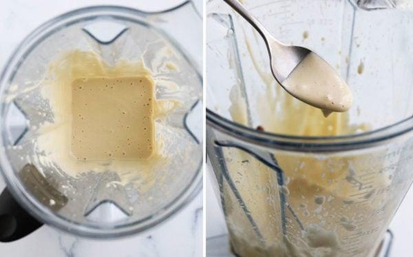 cashew parmesan sauce in blender