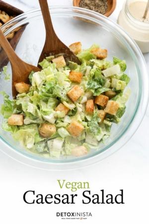 vegan caesar salad pin