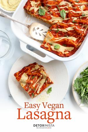 vegan lasagna pin