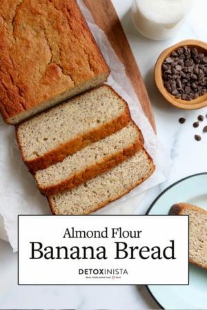 almond flour banana bread pin