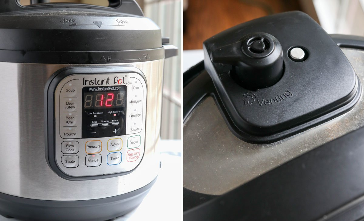 Instant Pot set to cook for 12 minutes