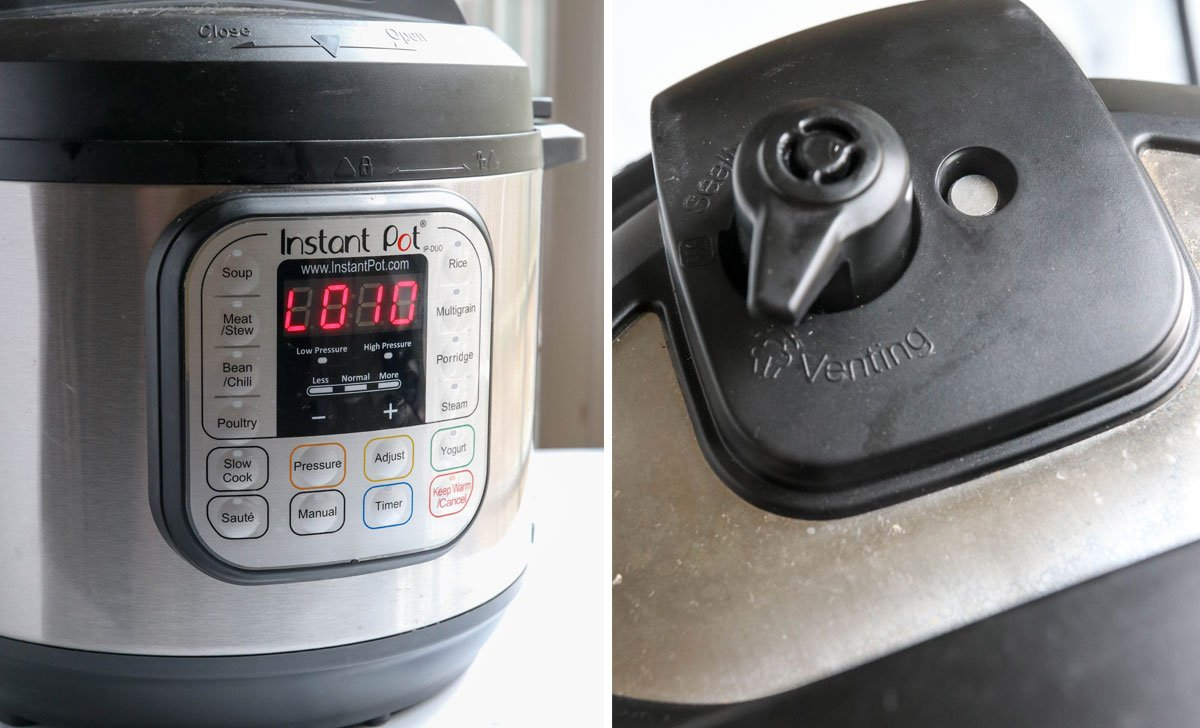 Instant Pot naturally released for 10 minutes