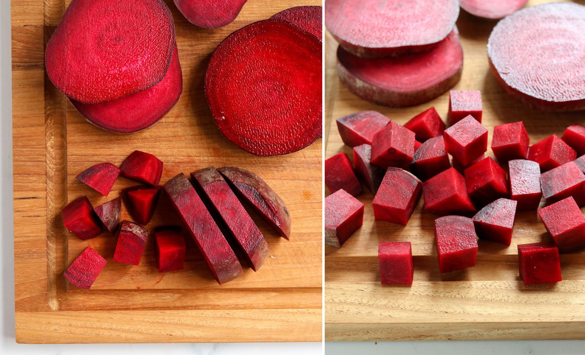 beets sliced into cubes