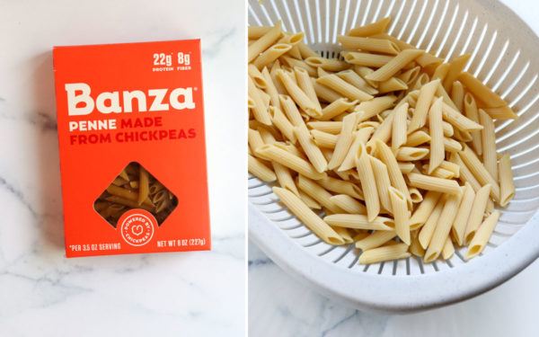 banza penne pasta cooked