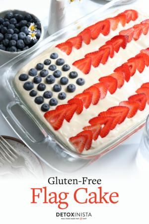 flag cake pin