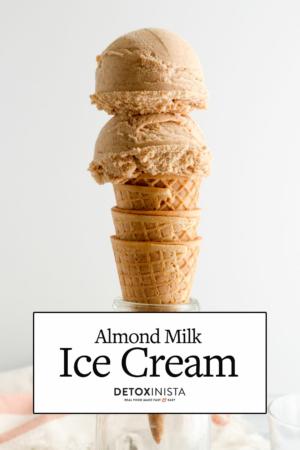 almond milk ice cream pin