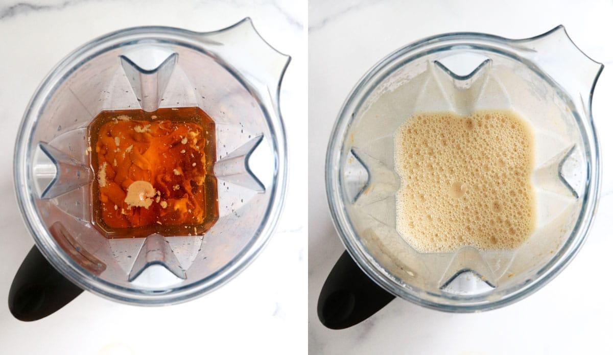 peanut butter ice cream in blender