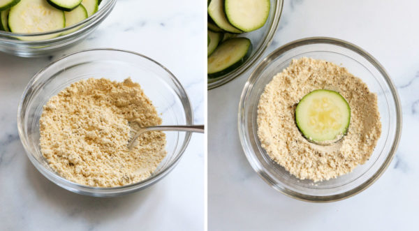 flour stirred together and zucchini added