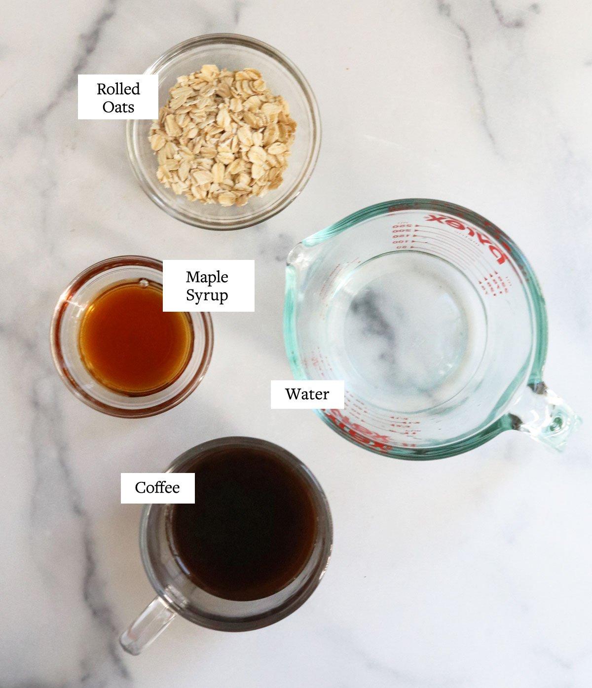oat milk latte ingredients