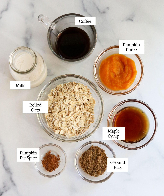 pumpkin overnight oats ingredients